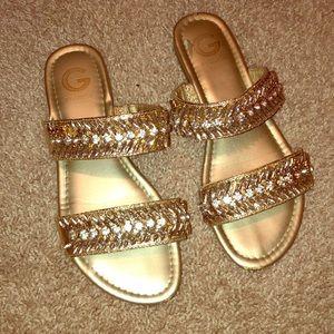 Guess rhinestone sandals